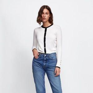 NWT Zara Size L Colorblock Cardigan